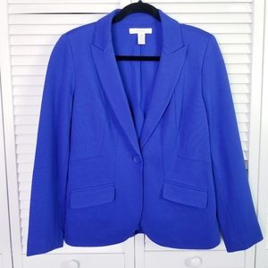 NWOT Chico's Blue Casual Soft Blazer Size 6